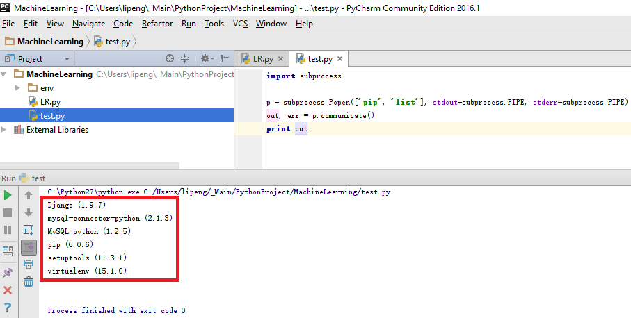 Virtualenv in PyCharm | allenlipeng47